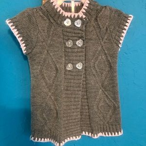 Little Lass sweater with heart buttons 18 mo